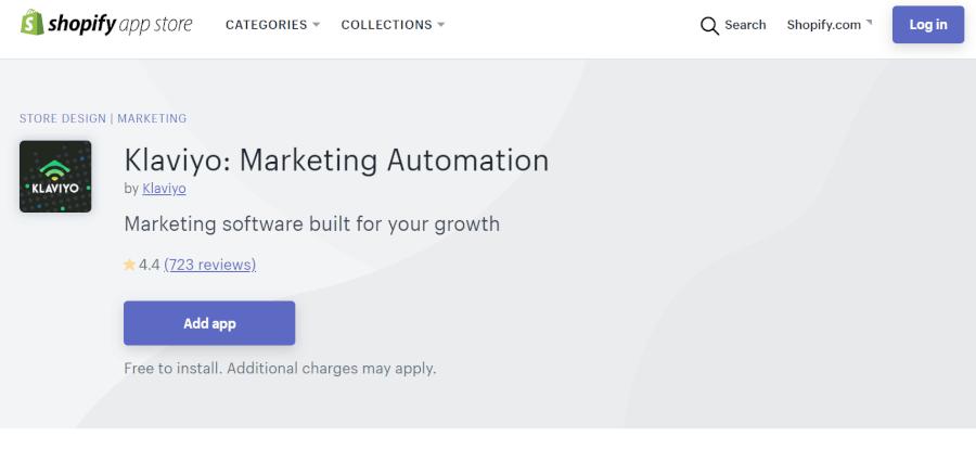 ShopifyアプリKlaviyo