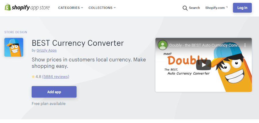 ShopifyアプリBEST Currency Converter